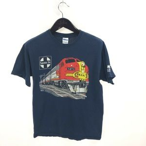 SANTA FE Railroad Museum T-shirt M Cotton Blue